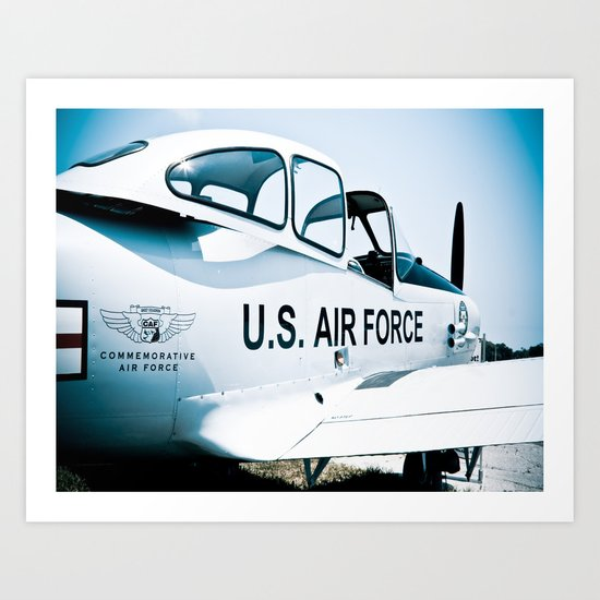 US Air Force Airplane Art Print