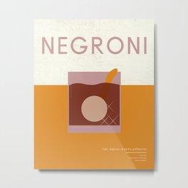 Midcentury Cocktails: Negroni Metal Print