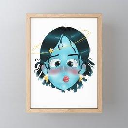 Erma Blu Upgraded  Framed Mini Art Print