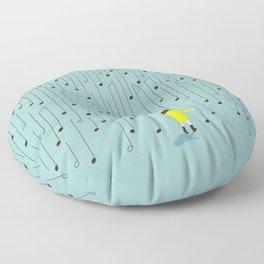 Singing in the Rain v2 Floor Pillow