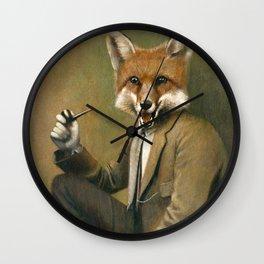 Vintage Fox In Suit Wall Clock
