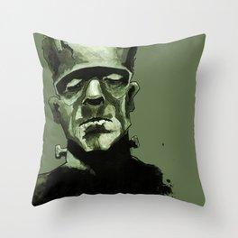 Frankentein's Monster Throw Pillow