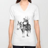cowboy V-neck T-shirts featuring Cowboy by Chimi