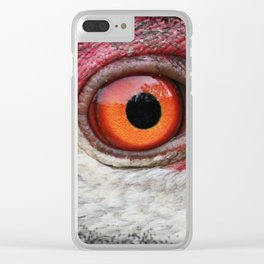 eye of the sandhill crane Clear iPhone Case