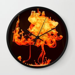 Fire ink Wall Clock