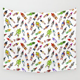 Superhero Butts with Villians - Light Pattern Wall Tapestry