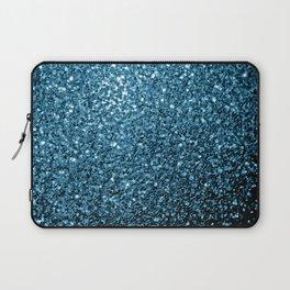 Beautiful Baby blue glitter sparkles Laptop Sleeve
