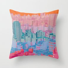 Fragmented Worlds II Throw Pillow