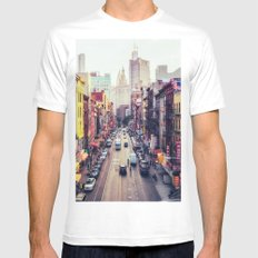 New York City White MEDIUM Mens Fitted Tee