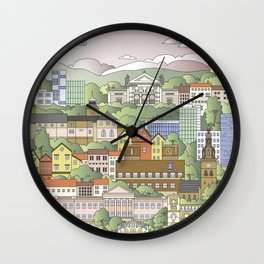 Oslo City Poster Wall Clock