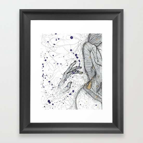 A Little Closer, A Little Further Away Framed Art Print
