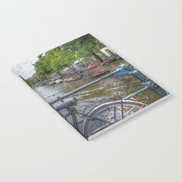 Amsterdam Bridge Canal View Notebook
