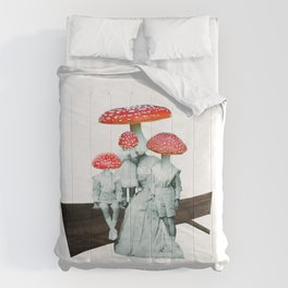 amanita muscaria with children Comforters