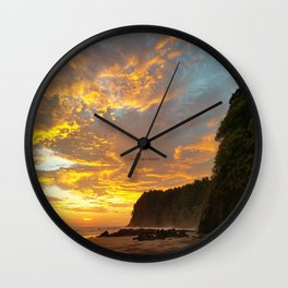 Coyote Beach Wall Clock