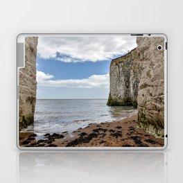 White Framed Cliffs - Botany Bay, England Laptop & iPad Skin