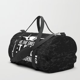 """F-35 Lightning II """"I love the smell of jet fuel in the morning"""" Duffle Bag"""