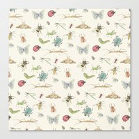 insects Canvas Prints featuring Insects by Little Holly Berry