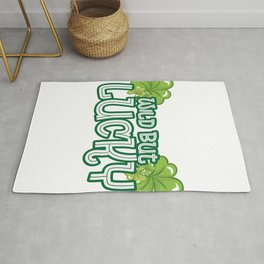 Wild But Lucky St Patricks Day Cute Funny Rug