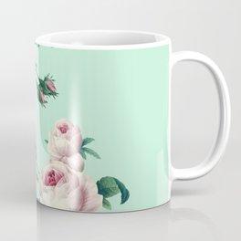 Roses Mint Green + Pink Coffee Mug