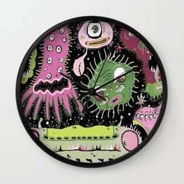 Cosmic Cooties Wall Clock