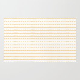 Yellow Scallop Rug