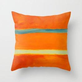 orange blue Throw Pillow