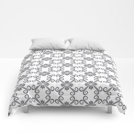 Grey Swirl Pattern Comforters