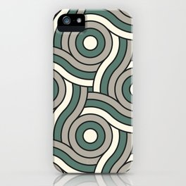 Circle Swirl Pattern Ever Classic Gray 32-24 Thistle Green 22-18 and Dover White 33-6 iPhone Case