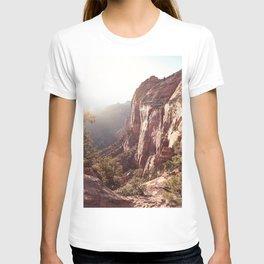 Sunset In Zion National Park Photo | Colors of Utah Landscape Nature Art Print | USA Digital Travel Photography T-shirt