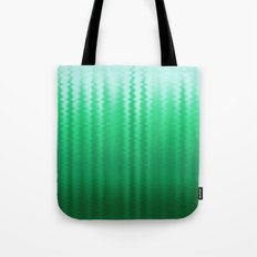 Green and Blue Ombre Soft Wavy Lines Tote Bag