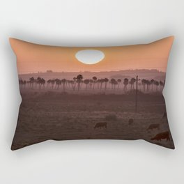 Sunset in the palm trees Rectangular Pillow