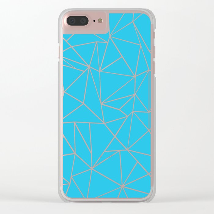Ab Outline Electric Clear iPhone Case