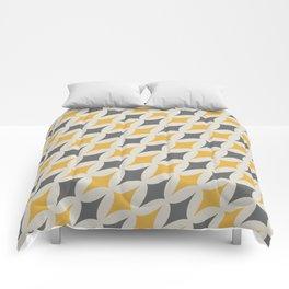 Diamonds in Grey & Yellow Comforters