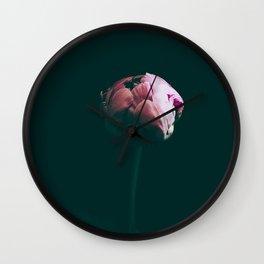 Raspberry Peony Wall Clock