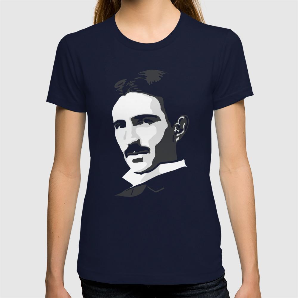 0711dde0 Nikola Tesla T-shirt by cracked | Society6