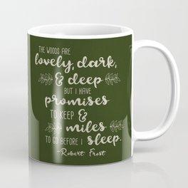 Miles to Go Before I Sleep Coffee Mug