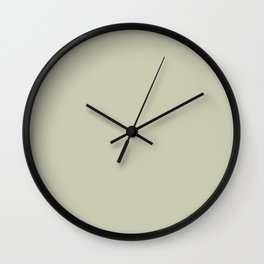 BM Soft Fern Pastel Green 2144-40 - Trending Color 2019 - Solid Color Wall Clock
