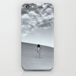 1351 Sandy Dune Nude - Carino Hedy - Organic Landscape Boudoir Spiritual Run iPhone Case
