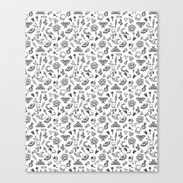 Modern Witch - White Canvas Print