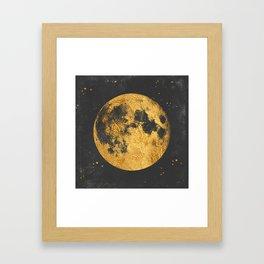 Gold Moon Framed Art Print