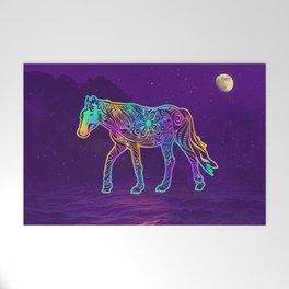 Dark night horse Welcome Mat