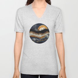 Metallic Mountains Unisex V-Neck