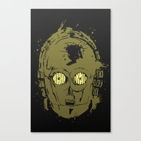 c3po Canvas Prints featuring C3PO by Peyeyo