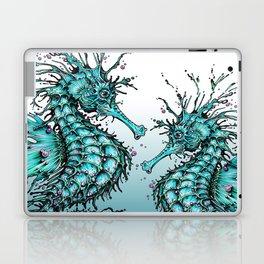 Cyan Seahorse Laptop & iPad Skin