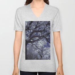 White Tree Unisex V-Neck