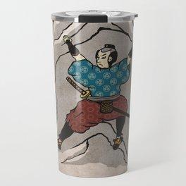 Rock Climbing Samurai Bouldering Travel Mug