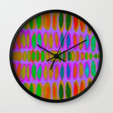 purple color pod Wall Clock