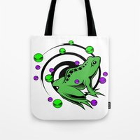 frog Tote Bags featuring Frog  by Michael P. Moriarty