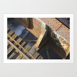 BU Bridge Art Print