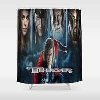 thor Shower Curtains featuring Thor by store2u